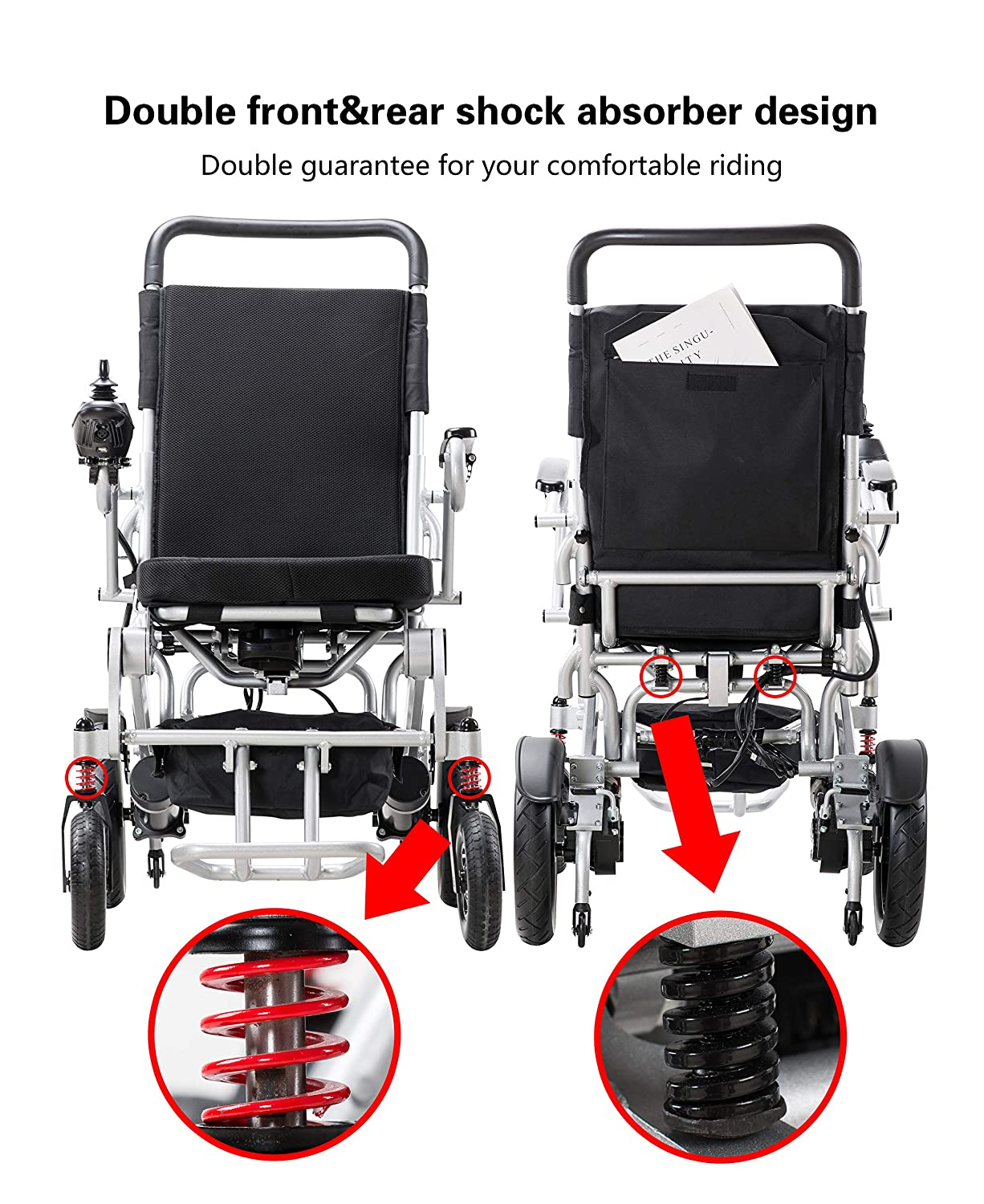 Amazon.com: Innuovo 2019 Heavy Duty Electrical Wheelchair – Power Chair Seat Width 21
