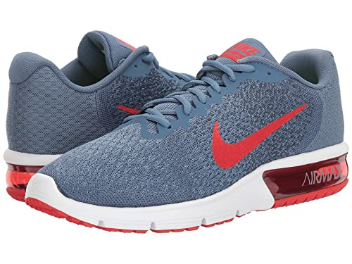 850ae2a2d51 Nike Men s Air Max Sequent 2 Running Shoe Ocean Fog University Red Squadron  Blue