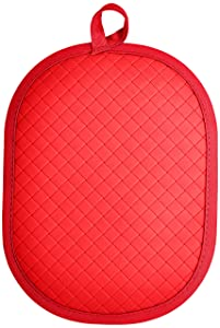 Rachael Ray Pot Holder & Trivet With Silicone Grip, Red