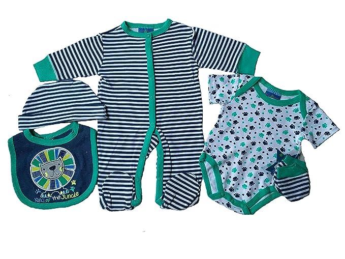 Lily & Jack - Pelele para Dormir - para bebé niño Azul Azul Marino 3-