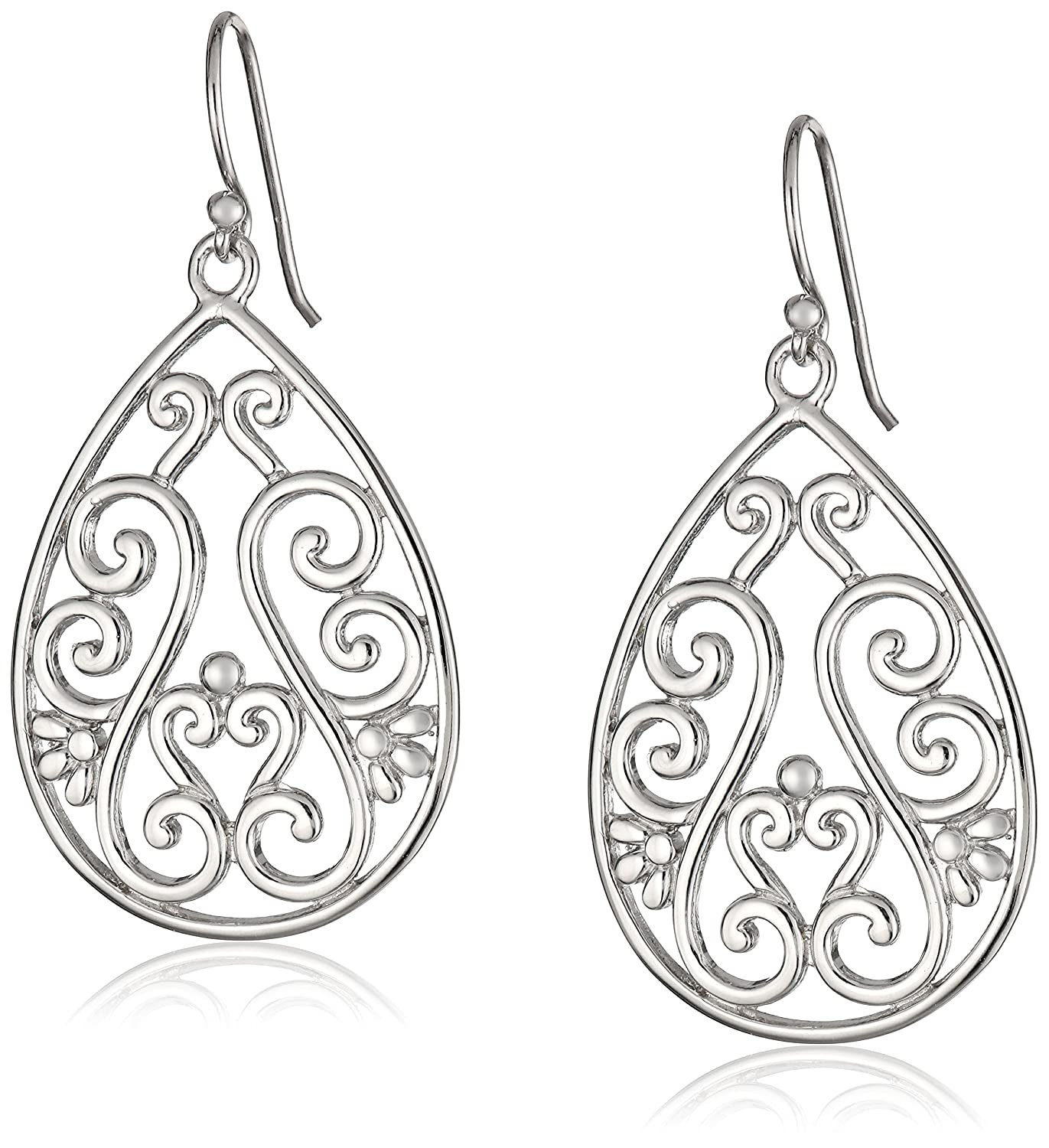 teardrop jewelry sterling com earrings silver amazon dp filigree