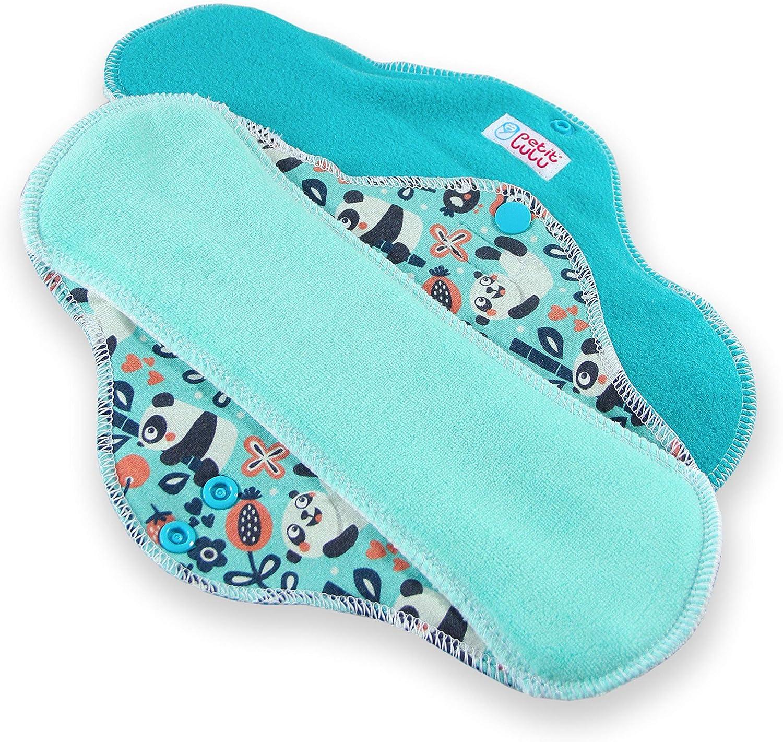 | Pads Menstruels doux et super absorbant R/éutilisable /& Lavable Classic Fabriqu/é en Europe Petit Lulu Serviettes hygi/éniques r/éutilisables en tissu lavables Paquet de 3 Cat Meadow, ULTRA