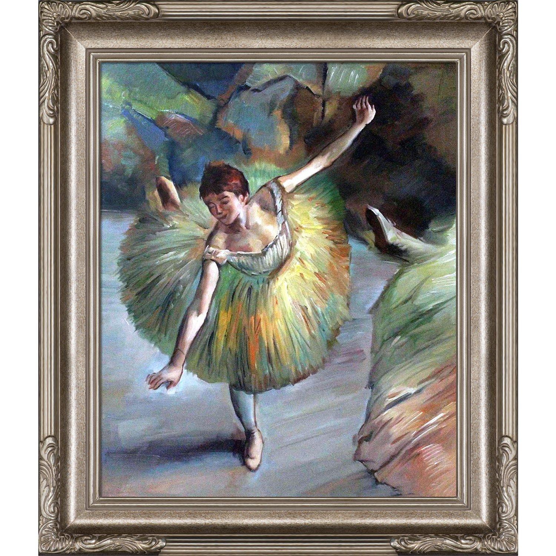 overstockArt Dancer Tilting by Degas with Florentine Dark Champagne Frame Dark Champagne Finish