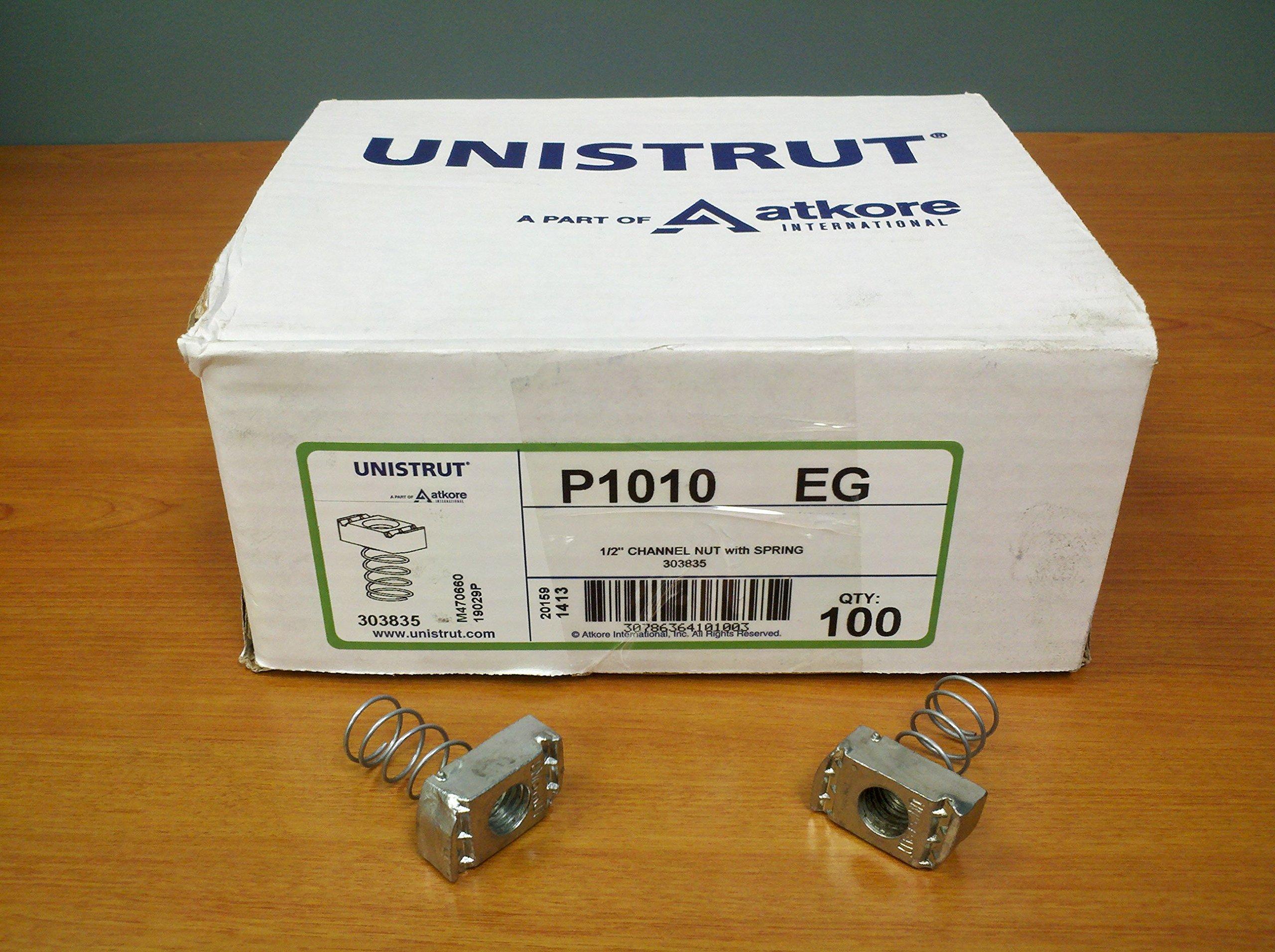 Unistrut 1-5/8'' Channel Nut, Electro-Galvanized, 1/2-13 - Lot of 100 by UNISTRUT