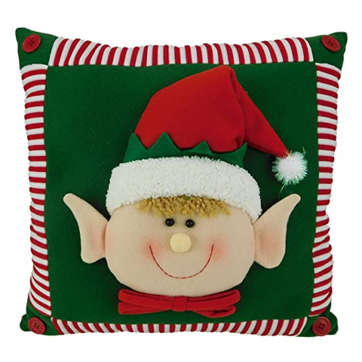 Cojín 15 pulgadas Elf Cara de Navidad de la almohadilla ...