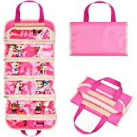 Fold Out Toy Organizer Storage Bag for Girls - Ideal for Toys, Accessories and Collectibles - Also Great for Arts…
