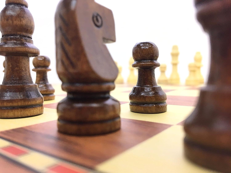 conforme /à la norme FIDE 34 cm exercez votre esprit pi/èces en bois de qualit/é faites /à la main Plateau de jeu d/échecs pliable Stimulez votre cerveau