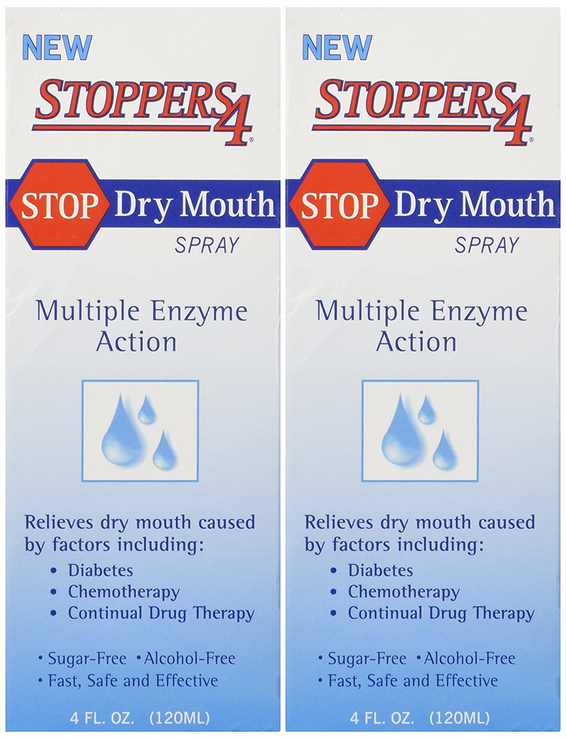Stoppers 4 Dry Mouth Spray 4 Fl.oz (Pack of 2)