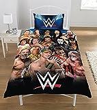 WWE - Set de funda de edredón WWE Legends, 50% de poliéster y 50% de algodón, multicolor, cama doble, 135 x 200 cm