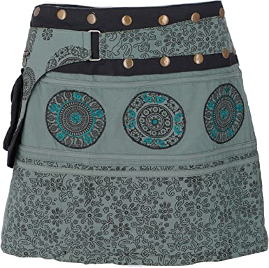 Guru-Shop - Falda corta para mujer, color negro, algodón, talla ...