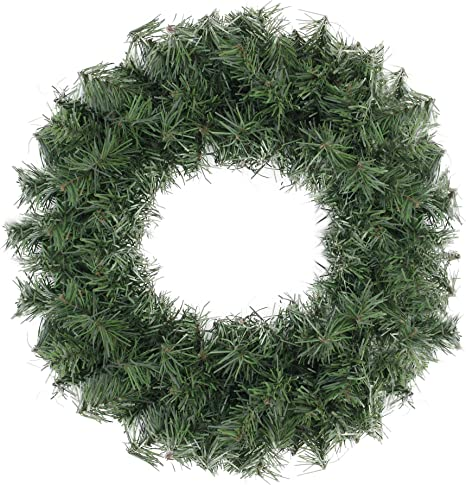 Amazon Com Northlight Canadian Pine Artificial Christmas Wreath 20 Inch Unlit Home Kitchen