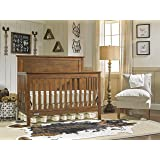 Fisher-Price Quinn 4-In-1 Convertible Crib, Rustic Brown