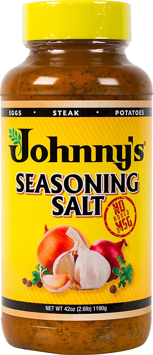 Johnny's Seasoning Salt, No Msg, 42 Ounce by Johnny's