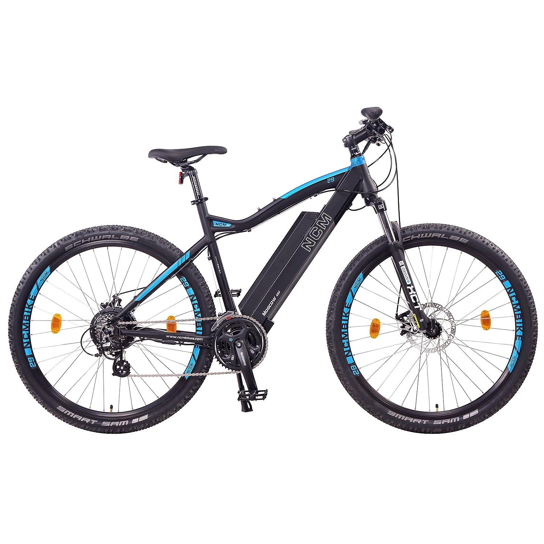 NCM Moscow Bicicleta eléctrica de montaña, 250W, Batería 48V 13Ah 624Wh (Negro 29)