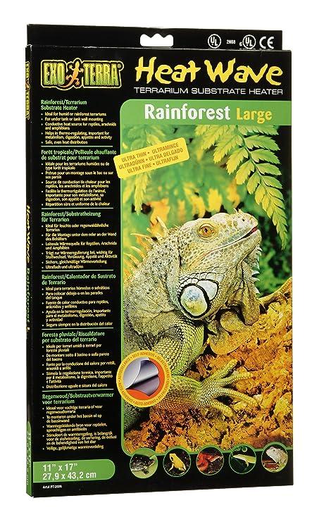 a076dd1e736 Amazon.com : Exo Terra Heatwave Rainforest, 12-Watt/110-Volt, 11 by 17-Inch  : Heat Mat : Pet Supplies