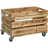 Nueva Kistenkolli Caja de plástico con ruedas (/caja, manzana caja, caja de vino del antiguo país + + +…