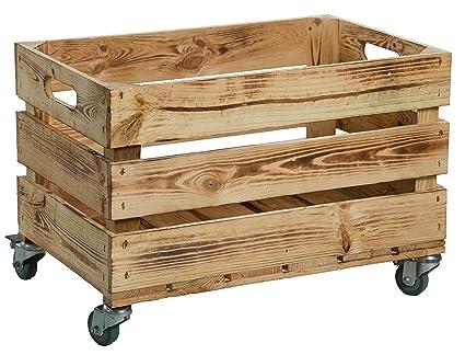 Nueva Kistenkolli Caja de plástico con ruedas (/caja, manzana caja, caja de