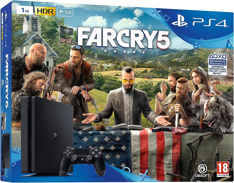Playstation 4 (PS4) - Consola de 1 TB + Far Cry 5: Amazon.es ...