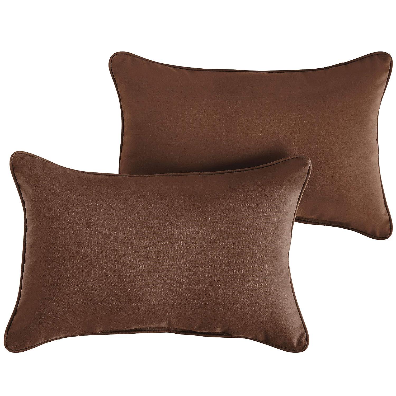 Textured Green 12x18 1101Design Sunbrella Dupione Laurel Corded Decorative Indoor//Outdoor Lumbar Throw Pillows Perfect Patio D/écor Set of 2