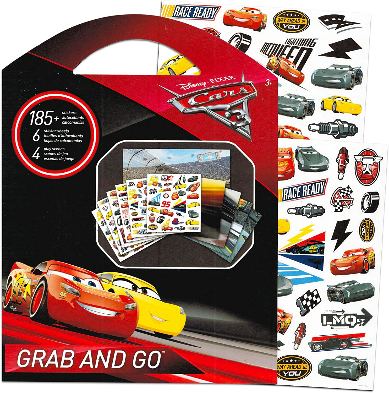 Desconocido Juego de Pegatinas de Cars de Disney, Incluye Set de Viaje de Pegatinas, más de 225 Pegatinas de recompensa (Disney Pixar Cars Party Supplies): Amazon.es: Juguetes y juegos