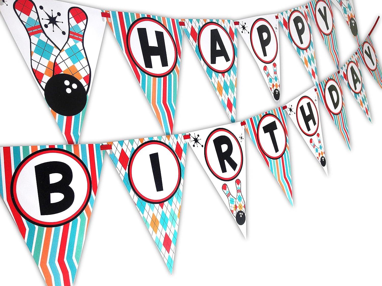 Amazon.com: Bowling Fun Birthday Party Supplies Set Plates Napkins ...