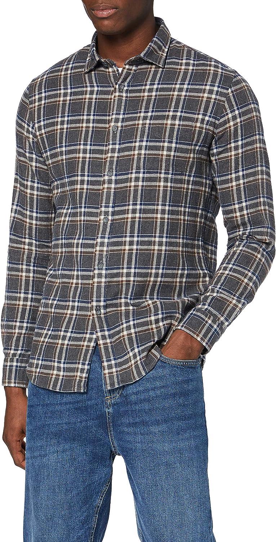 Charcoal Amazon-Marke: MERAKI Herren Langärmeliges Baumwollhemd XXL  - Black
