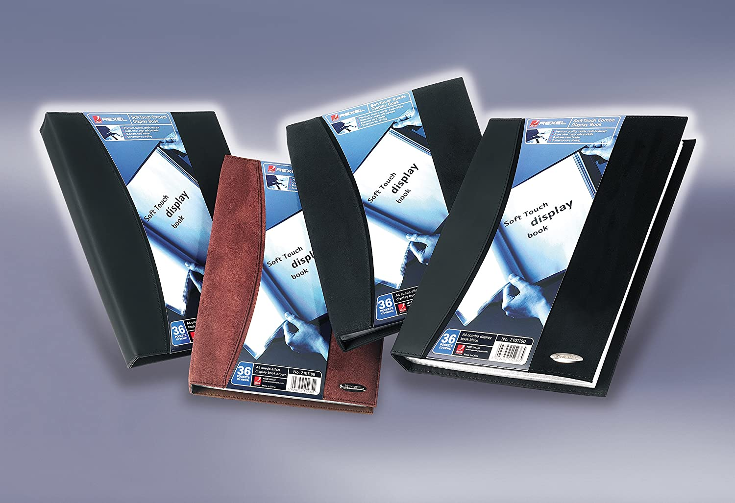 Rexel Soft Touch Lot de 24 prot/ège-documents Noir