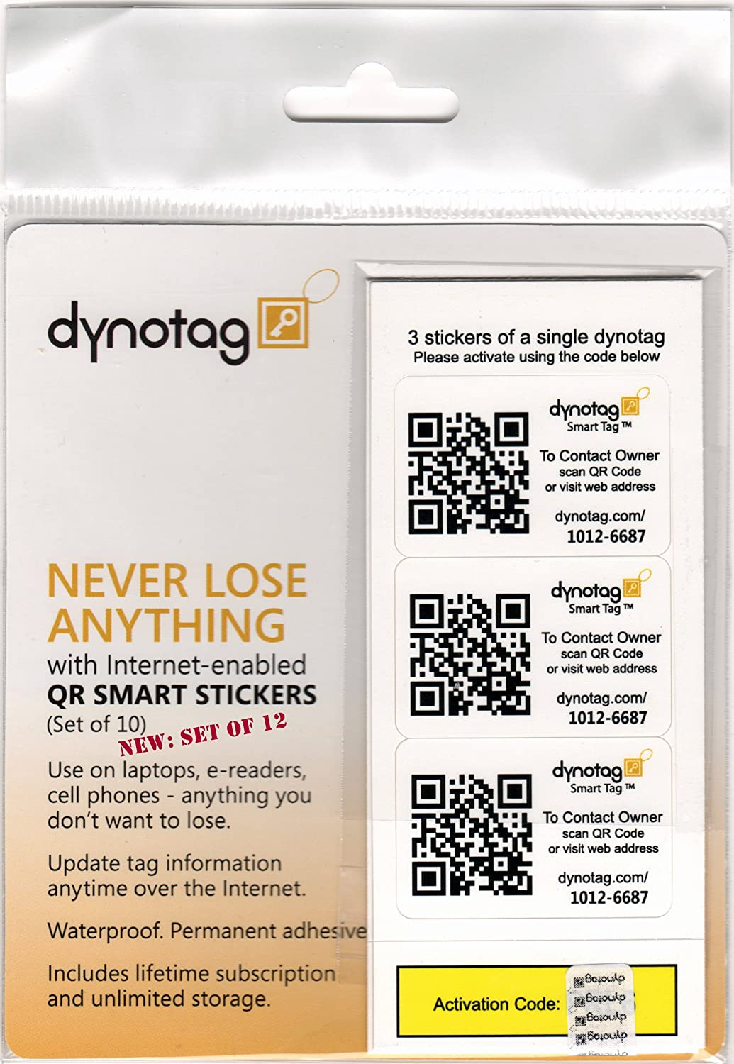Amazon dynotag webgps enabled qr code smart tags ready to amazon dynotag webgps enabled qr code smart tags ready to use 12 sticker set 3 stickers each of 4 dynotags all purpose labels office magicingreecefo Gallery