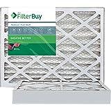 FilterBuy 16x25x4 MERV 13 Pleated AC Furnace Air Filter, (Pack of 2 Filters), 16x25x4 – Platinum