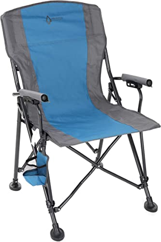Arrowhead Outdoor Heavy-Duty Solid Hard-Arm High-Back Folding Camping Quad Chair, Heavy-Duty Carrying Bag, Cup Holder Included w Side Pouch, Supports up to 400lbs, USA-Based Support
