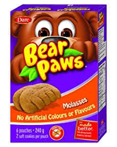 Dare Bear Paws Soft Molasses Cookies 270g - Peanut Free - {Imported from Canada}