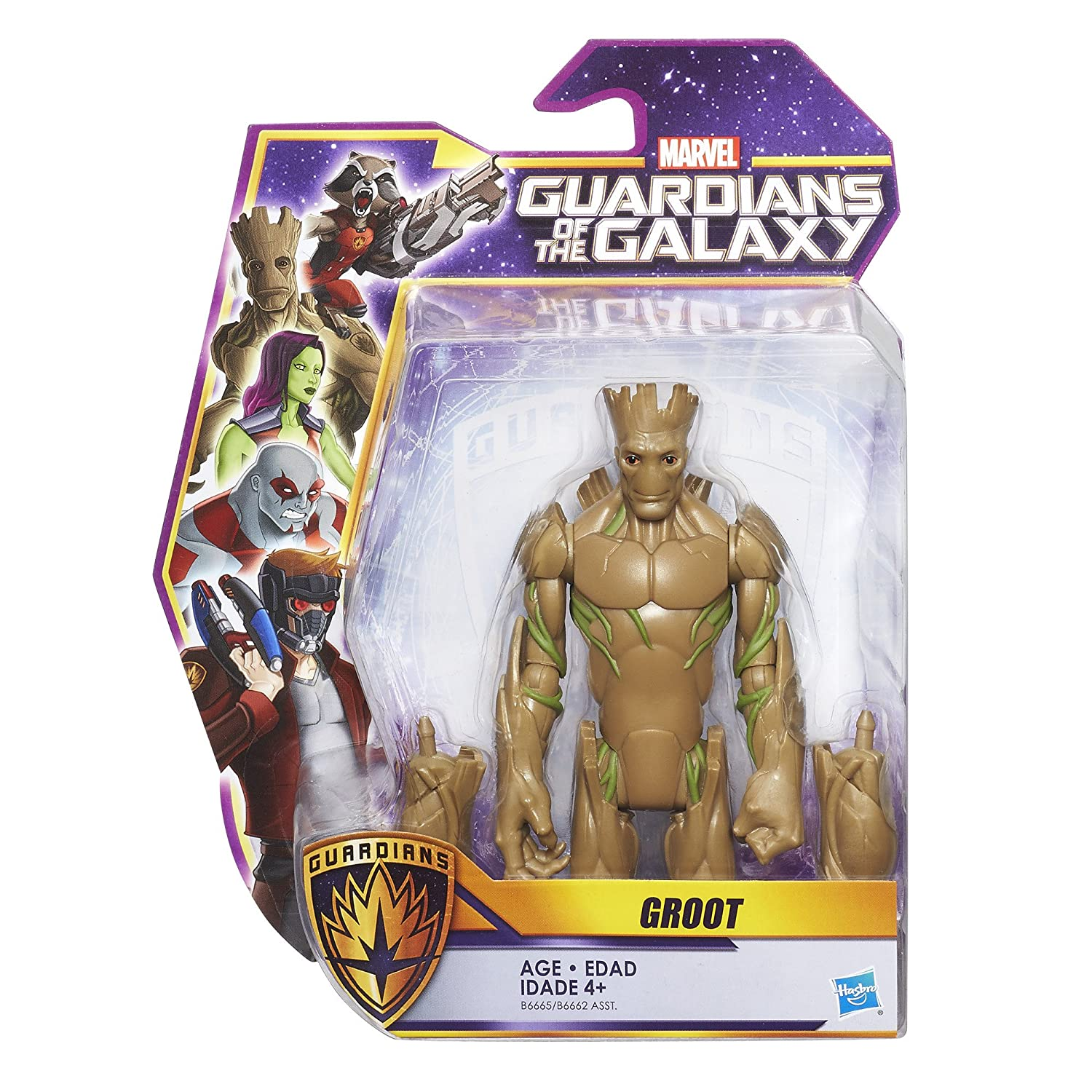Marvel Guardians of the Galaxy 6-inch Groot Hasbro B6665AS0