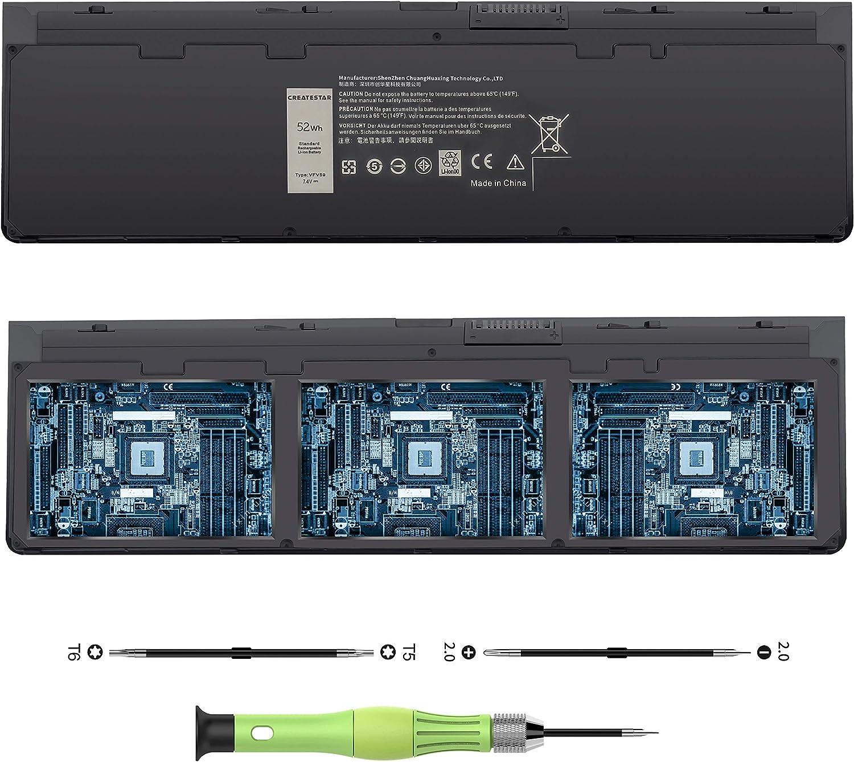 CREATESTAR 7.4V 52Wh VFV59 Laptop Battery for Dell Latitude E7250 E7240 Series Notebook GVD76 HJ8KP W57CV NCVF0 WD52H F3G33 9C26T J31N 451-BBFX 451-BBFW Battery Replacement