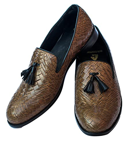 344df1082a607 Bronnko Brown Tassel Men's Loafers Formal / Casual Shoes: Buy Online at Low  Prices in India - Amazon.in