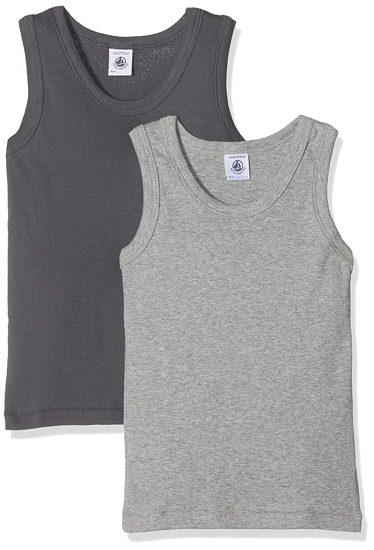 Petit Bateau Set of 2 Boy's Plain Undershirts Sizes 2-18 Style 26468-26484