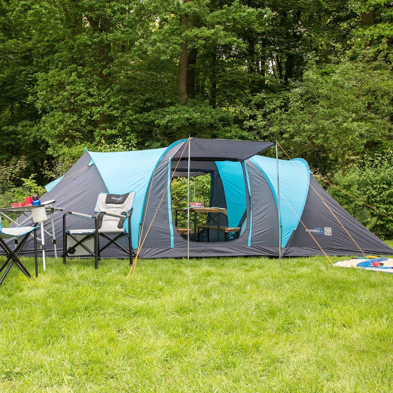 skandika Hammerfest 6 Protect - tienda campaña familiar - cúpula - mosquiteras - 2 dormitorios - azul: Amazon.es: Deportes y aire libre