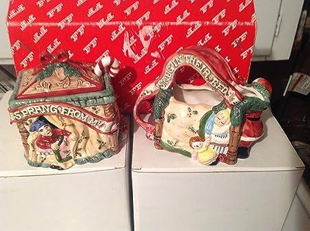 Fitz Floyd Night Before Christmas Sugar Creamer 1993 Amazon Co Uk