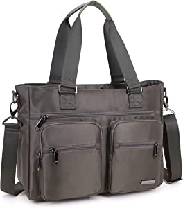 Crest Design Nylon Laptop Shoulder Bag Travel Work Clinic Nursing Tote (Army Green)