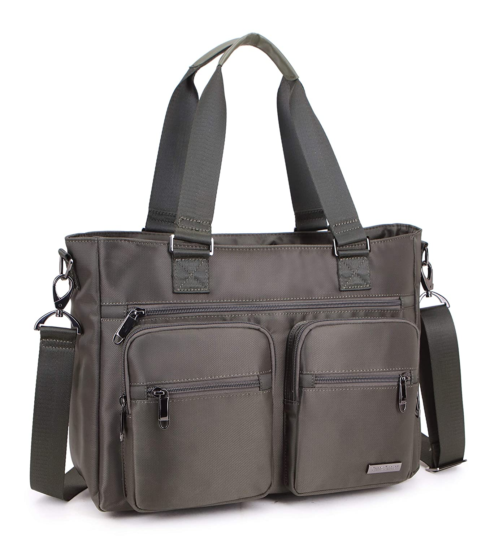 Crest Design 撥水性ナイロンショルダーバッグ ハンドバッグ タブレット ノートパソコン トート 旅行 仕事 スクールバッグ 医薬品、看護用品を持ち運ぶのにぴったりの授乳用トート。 One Size グリーン B07G2QMYMQ  アーミーグリーン