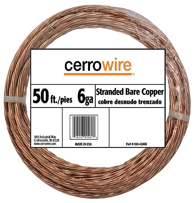 Cerro 050-2200A3 15-Feet 6-Gauge Bare Solid Copper Wire - - Amazon.com