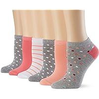 Marca Amazon - Hikaro - Calcetines cortos Ordinary para mujer, pack de 6 pares, varios colores (rosa 287), talla 35-38…