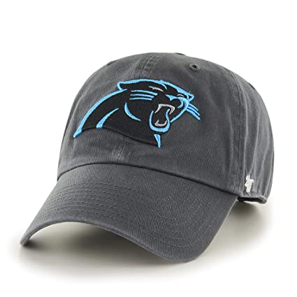 timeless design da2a2 258bd Image Unavailable. Image not available for. Color  Carolina Panthers 47  Brand Charcoal Clean Up Cap ...