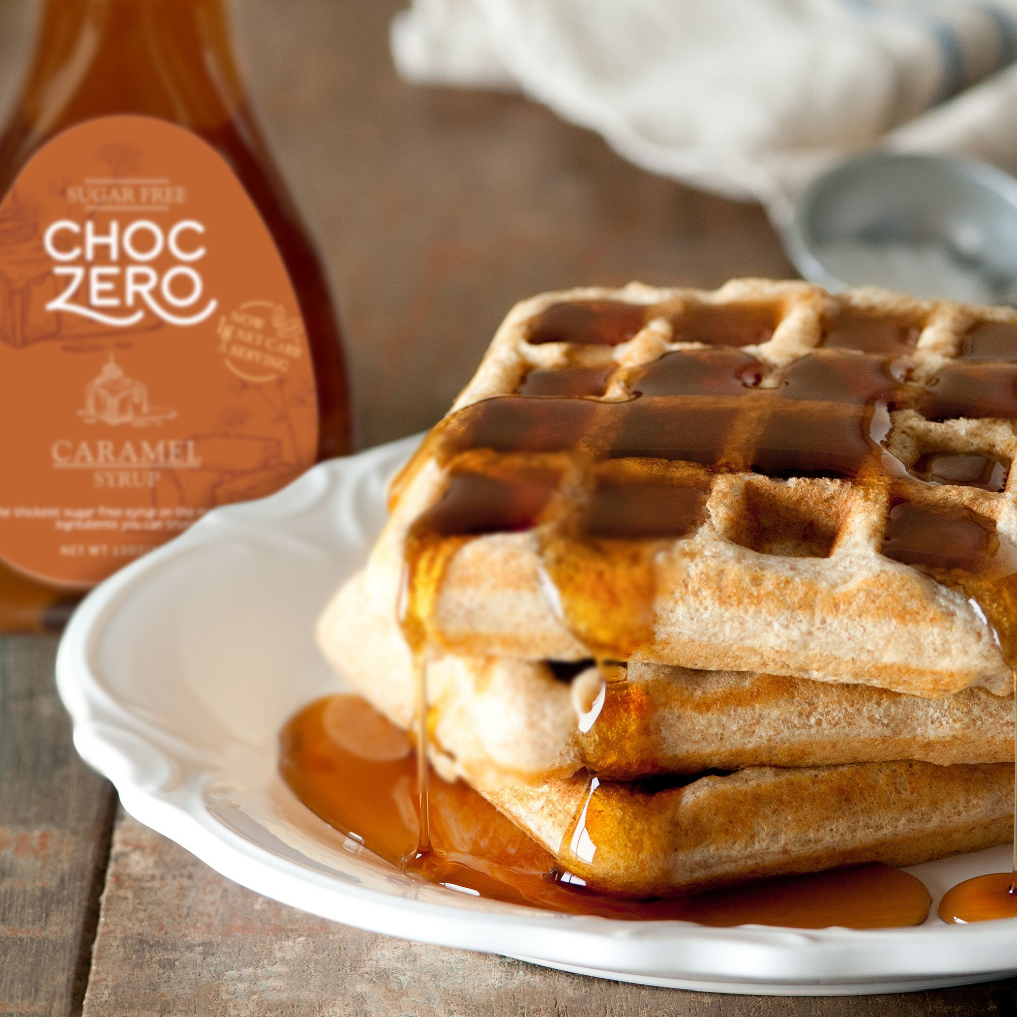 ChocZero Syrup Variety Pack. Sugar-free, Low Carb, No Preservatives. Thick and Rich. No Sugar Alcohol, Gluten-Free. 3 Bottles (Chocolate, Caramel, Maple) by ChocZero (Image #3)