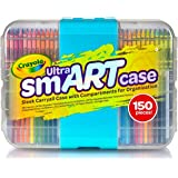 Crayola Ultra Smart Case, 150 Piece Set, Includes Crayons, Pencils, Paper, Markers and The Best Storage Case to Keep Art Tools Neat and Tidy. This is The Ultimate Gift of Creativity for All Children!