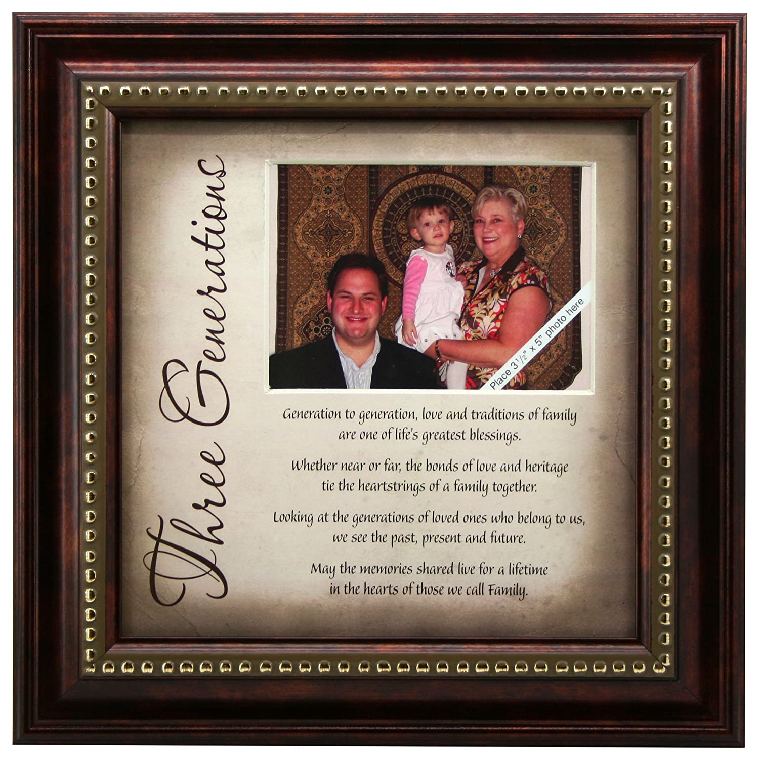 3 Generations Frame and Poem - Gift for Grandparents: Amazon.co.uk ...
