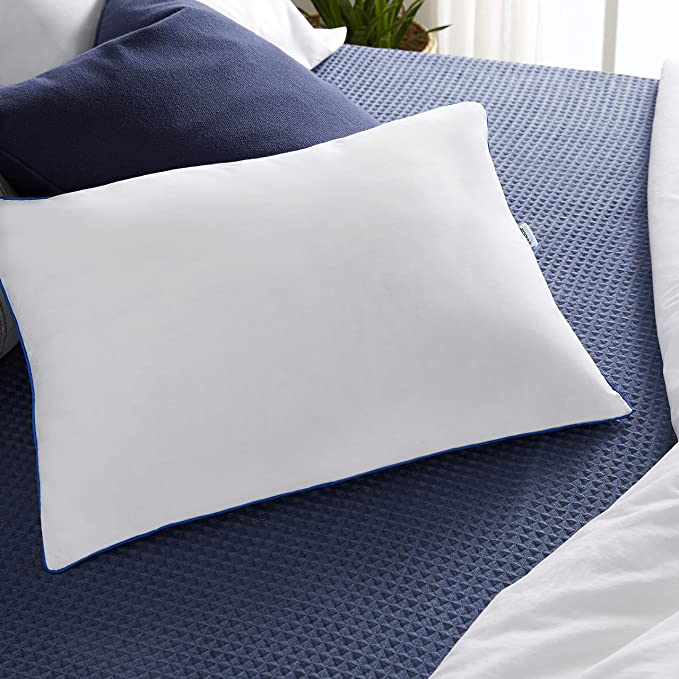 sleep innovations 2 in 1 memory foam pillow standard made in the usa