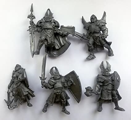 5 Fantasy Paladins Toy Soldiers 54 mm Tehnolog Fantasy Battles