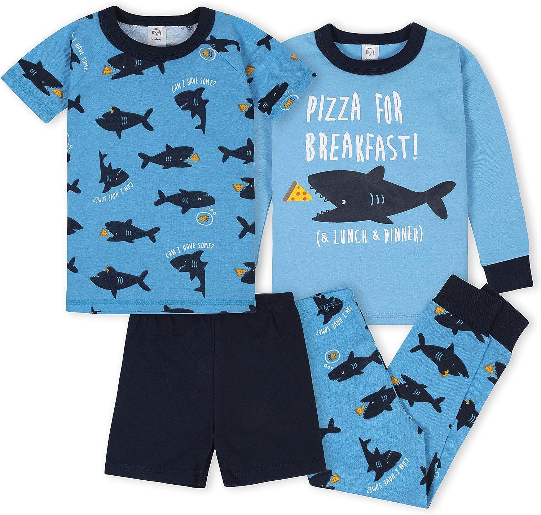 GERBER Baby Boys' 4-Piece Pajama Set