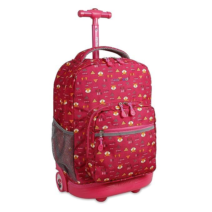 117f53bcdc J World New York Sunrise Rolling Backpack Backpack, FOX: Amazon.ca ...