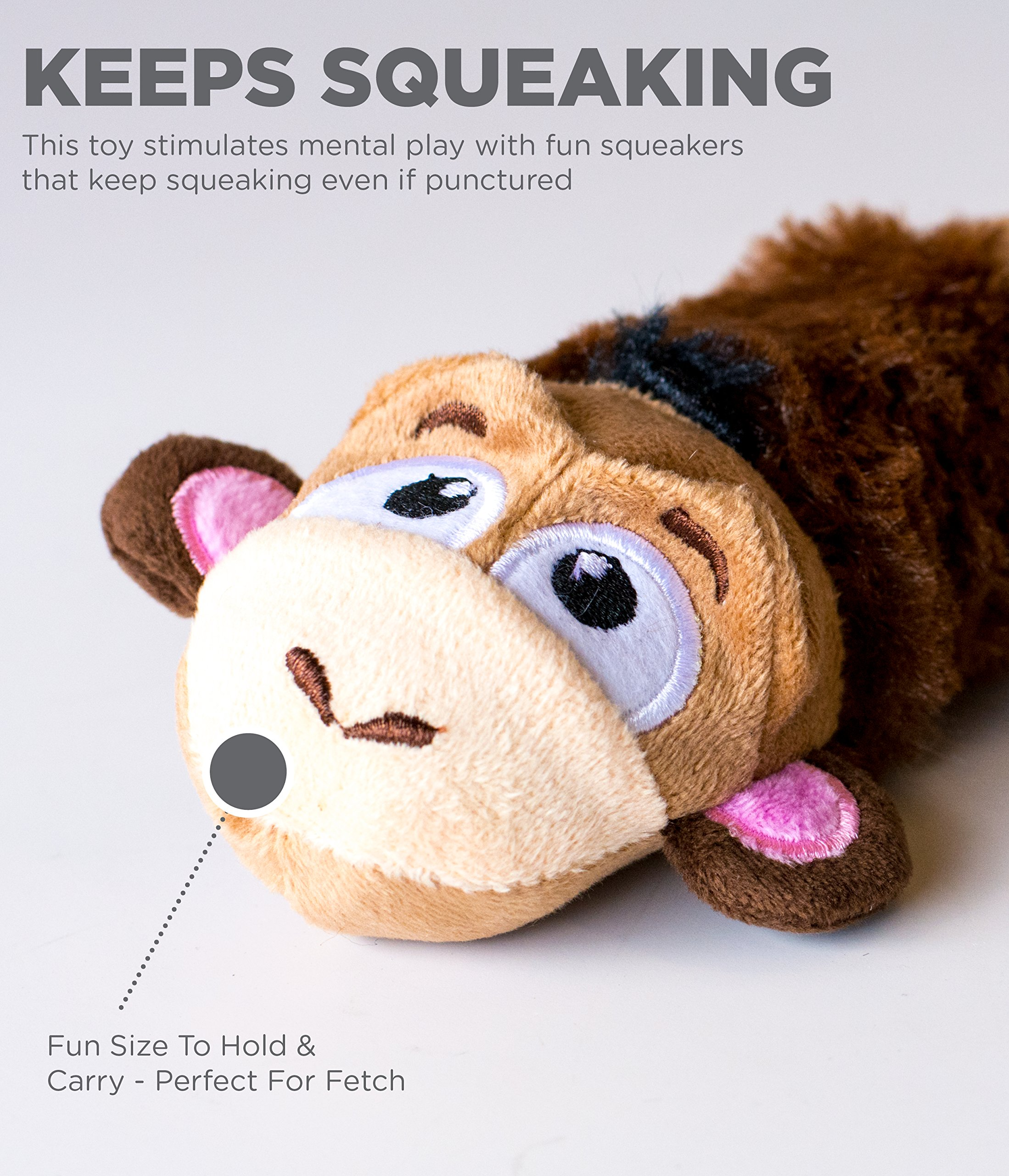 Petstages-Just-For-Fun-No-Stuffing-Plush-LiL-Squeak-Monkey-Dog-Toy-for-Small-Dogs